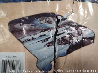 Lavish Home Wolf Heavy Thick Plush Mink Blanket 8 pound