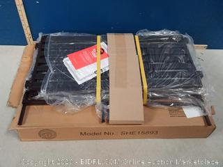 Seville Classics 3-Tier Stackable 12-Pair Woodgrain Resin Slat Shelf Sturdy Metal Frame Shoe Storage Rack Organizer (shoes not included)