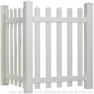 Picket Accent Fence with Dog Ear Shaped Cap (online $114)