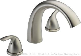 Delta Faucet Classic 2-Handle Widespread Roman Tub Faucet Trim Kit, Deck-Mount, Stainless T2705-SS (Valve Not Included) online $149
