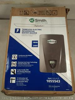 A.O. Smith Signature 240-Volt 18-kW 1.6-GPM Tankless Electric Water Heater (online $479)