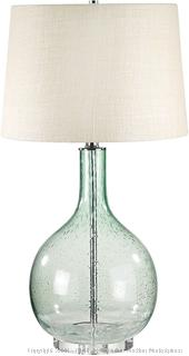 """Seeded Glass Table Lamp, 28"""" x 15"""" x 16"""" (online $112)"""