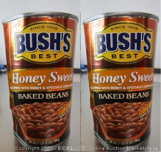 Bush's Honey Sweet Baked Beans, 2 Cans