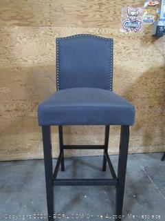 Navy Blue/Gray Barstool Chair
