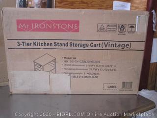 Mr Ironstone Kitchen Storage Cart