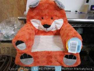 Kids Plush Fox Chair