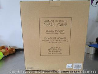 Studio Mercantile Vintage Baseball Pinball Game