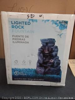 Garden Treasures lighted Rock fountain