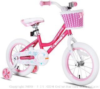 JOYSTAR Girls Bike for 2-9 Years Old 12 14 16 18 Inch Kids Bike with Training Wheels, 18 Inch Kids Bike with Kickstand, Toddler Bicycle(Retails $119)