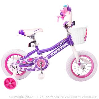 Joystar 14 Inch Petal Kids Bike with Training Wheel for 3-6 Years Old Kids(Retails $97)