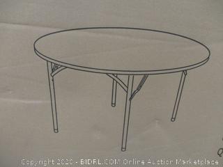 "48"" Round Plastic Folding Table"