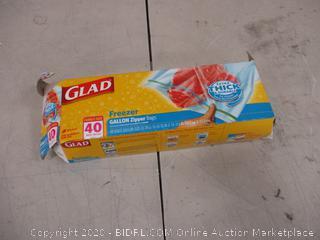 Glad Freezer Gallon Zipper Bags