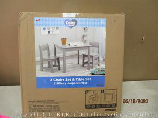 Delta 2 Chairs set & Table Set