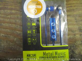 Metal Music Stereo Bluetooth Headset