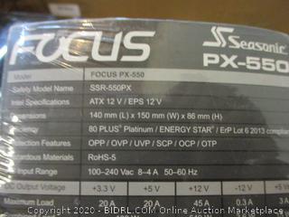 Focus Power Supply Fully Modular Hybrid Fan Control