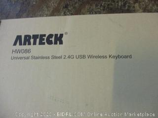 Arteck Universal Stainless Steel 2.4G USB Wireless Keyboard
