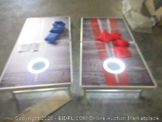 Rustic Design Cornhole Set