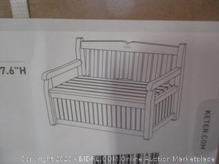 Keter Eden Storage Bench