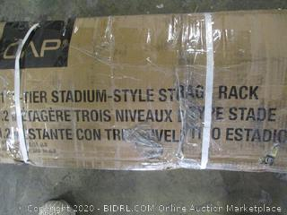 "CAP 51"" 3-Tier Stadium Style Storage Rack ($200 Retail)"