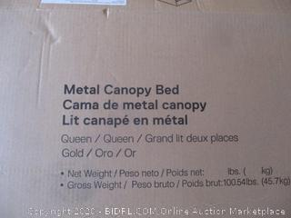 Metal Canopy Bed (See Pictures)