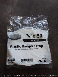 plastic hanger strap 3/4 inch * 50 feet($20)