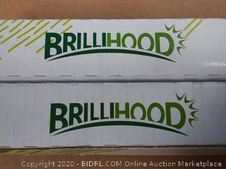 4 ft. Brillihood LED Light Fixture with tube lights (online $52)