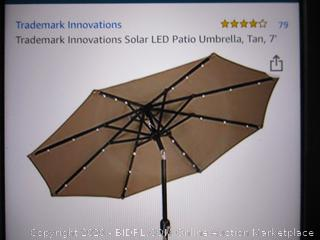 Solar Led Patio Umbrella