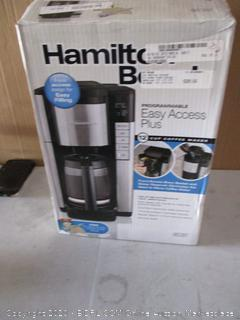 Hamilton Beach Coffee Maker (Powers On)