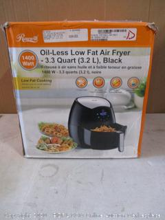 Oil-Less Low Fat Air Fryer (Powers On)
