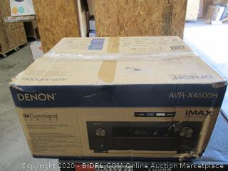 Denon AVR-X4500H Receiver - 8 HDMI In /3 Out, High Power 9.2 Channel Amplifier (125 W/Ch)  Dolby Surround Sound, Music Streaming with Alexa + HEOS (Powers On , Missing Dial And Remote Control, Front Cover won't close, $1599 Retail)