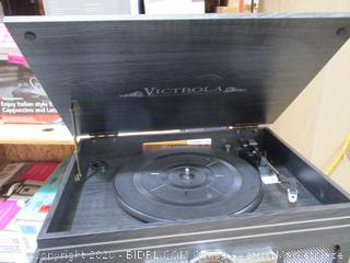 Victrola Nostalgic Classic Wood 6-in-1 Bluetooth Turntable Entertainment Center