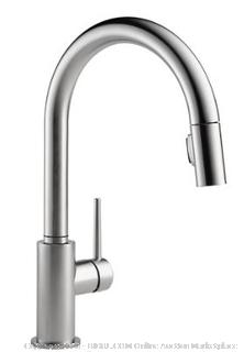 Delta Faucet Trinsic Single-Handle Kitchen Sink Faucet with Pull Down Sprayer and Magnetic Docking Spray Head, Arctic Stainless 9159-AR-DST ($399 Retail)
