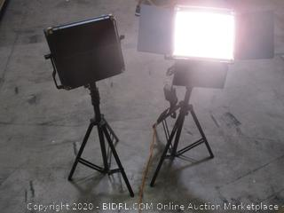 Neewer 2 Pieces Bi-color 660 LED Video Light and Stand Kit Includes ($205 Retail)