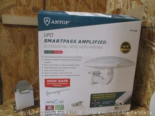 ANTOP AT-414B UFO 360 Degree Smartpass Amplified Outdoor/Attic HD Antenna