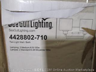 Seagull Lighting - Two-Light Wall Light (Missing Shade, See Pictures)