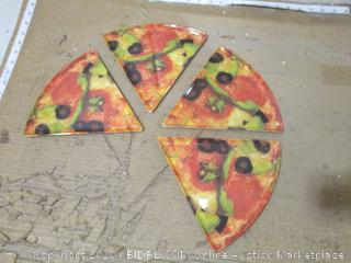 Triangle Pizza Plates, Set of 4