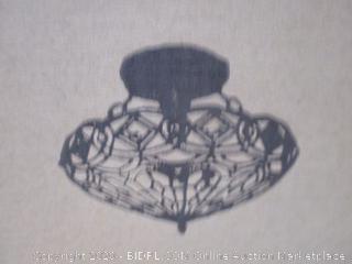 "Amora Lighting - Tiffany Style Lamp, 16"" ($147 Retail)"