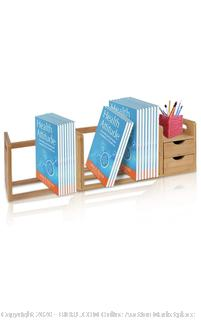 "SereneLife - Adjustable Bamboo Wood Desk Organizer (32.2"" x 7.56"" x 8.27"")"
