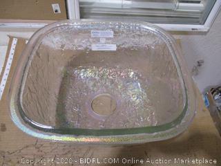"""Undermount Glass Kitchen Sink, 17"""" ($304 Retail)"""