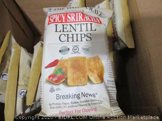 The Daily Crave Lentil Chips, Spicy Sriracha (Pack of 8)