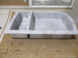 "Swanstone - Shower Recessed Shelf, 15"" x 22"" ($194 Retail)"