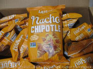 Late July Snacks - Classic Tortilla Chips, Nacho Chipotle (12 Pack)