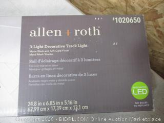 Allen and Roth 3-Light Decorative Track Light (See Pictures)