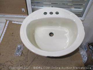 Bootz Industries Porcelain Enameled Steel 20 x 17 Lavatory Sink (See Pictures)