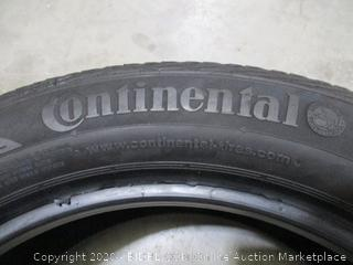 Continental Radial Tire - 225/50R17 94V (Used, See Pictures)