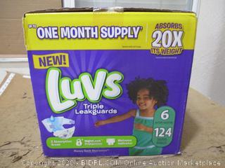 Luvs - Triple Leakguards, Size 6 (124 Count)