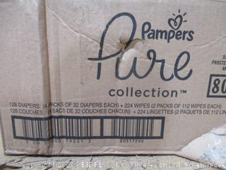 Pampers - Pure Collection Diapers, Size 2 (32 Count, Sealed Bags)