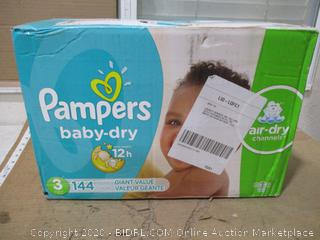 Pampers - Baby-Dry Diapers, Size 3 (144 Count, Sealed Bags)