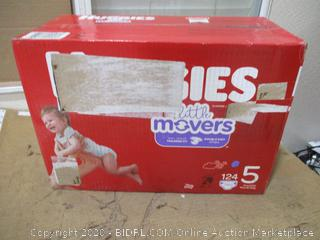 Huggies - Little Movers, Size 5 (124 Count, Sealed Box)