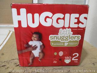 Huggies - Little Snugglers, Size 2 (180 Count, Sealed Bags)